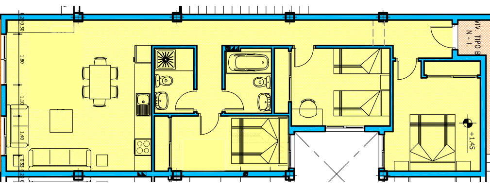 Floor plan El Cotillo